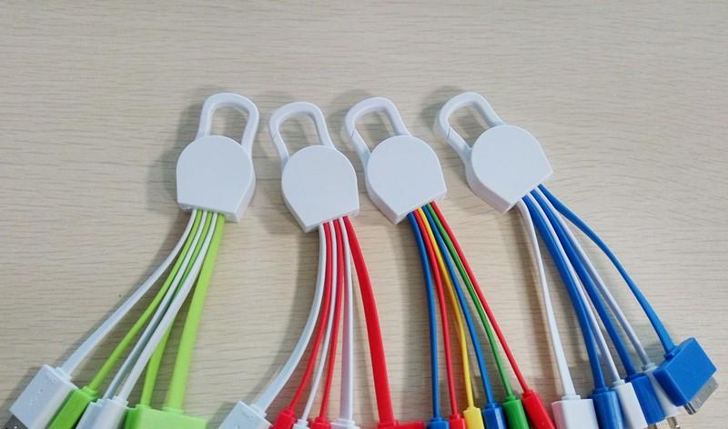 Новый Творческий usb multi зарядный кабель Портативный 5 в 1 Многофункциональный USB Зарядное Устройство Кабель для Передачи Данных Кабель Для Мобильного