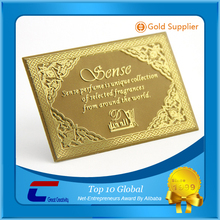 China factory plated rose golden/ gold metal business card, stainless steel metal name card
