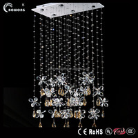 Simple shape antique pendant light,plastic crystal chandeliers