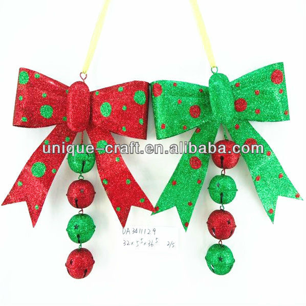 Christmas decoration hanging bow