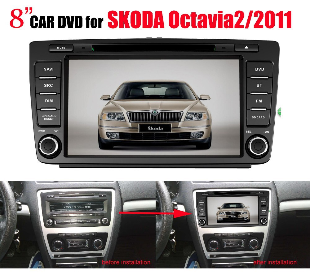 Fit for skoda octavia 2 2011 car dvd touch screen gps car multimedia player with gps buy car dvd touch screen gps car multimedia player with gps product