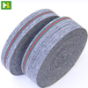 Grey polyester belt stripes fabric elastic band for clothing