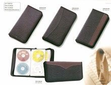 PU leather CD wallet shape CD organizer cd dvd storage