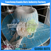 Beautiful Paper Material Straw Hat, Cheap Straw Sun Hat