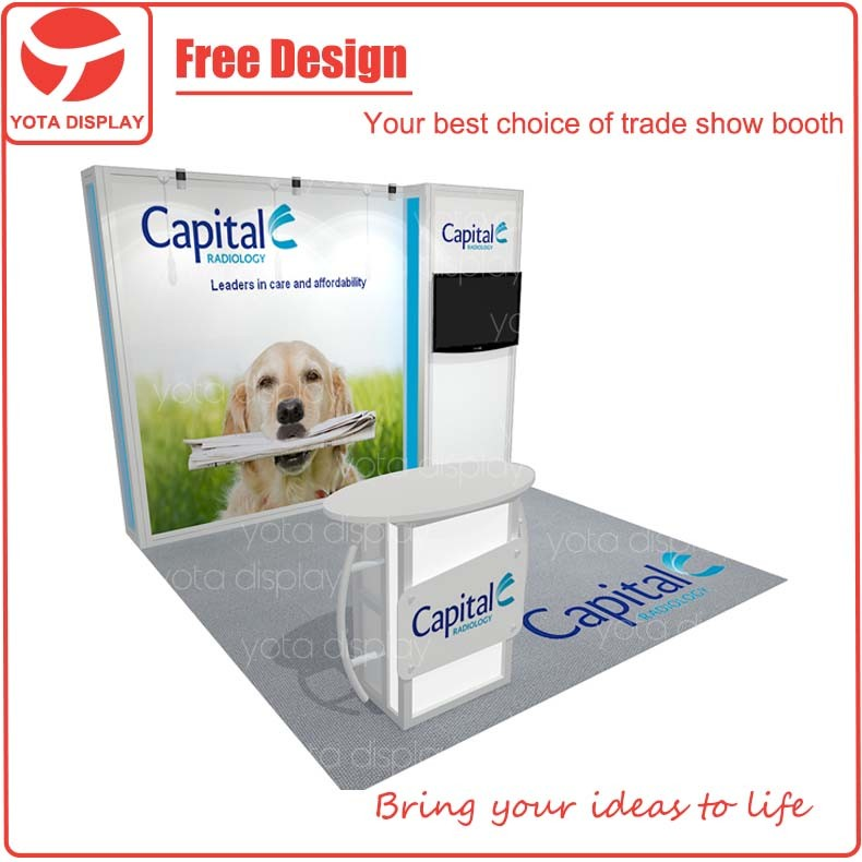 Yota offer Capital, 10x10ft pets trade show exhibition booth construction