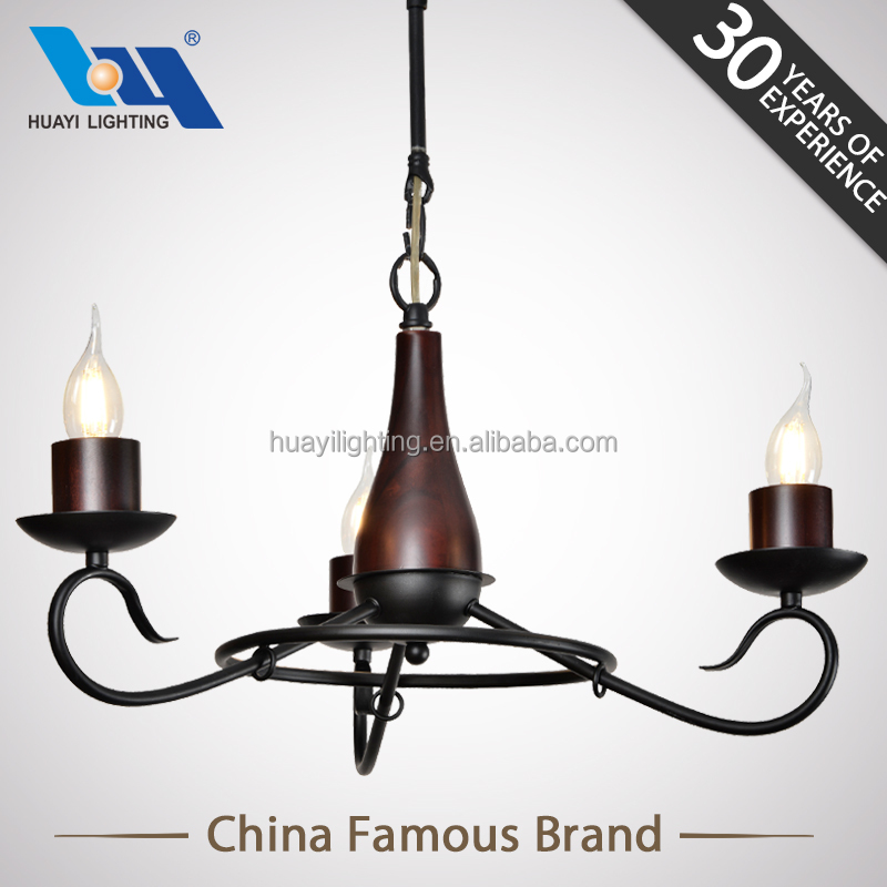 interior decoration E14 filament candle light staircase chandeliers