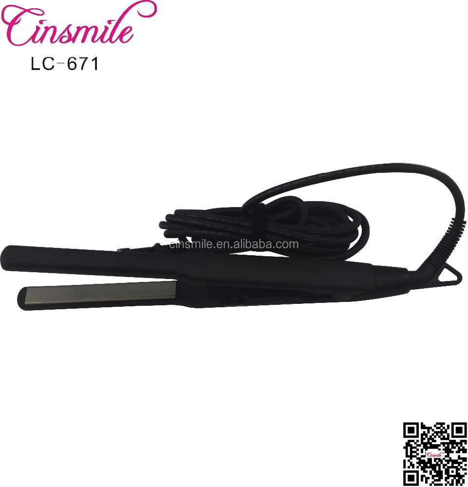 private label 450 degrees korean hair straightener MCH narrow 0.5 inch plate ceramic flat iron with swivel power cord