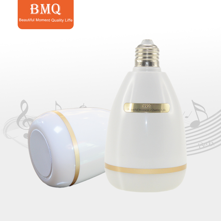 2018 hot sell BMQ connect smart led music bulb wireless bt speaker led bulb QB303 give <strong>u</strong> a quality life