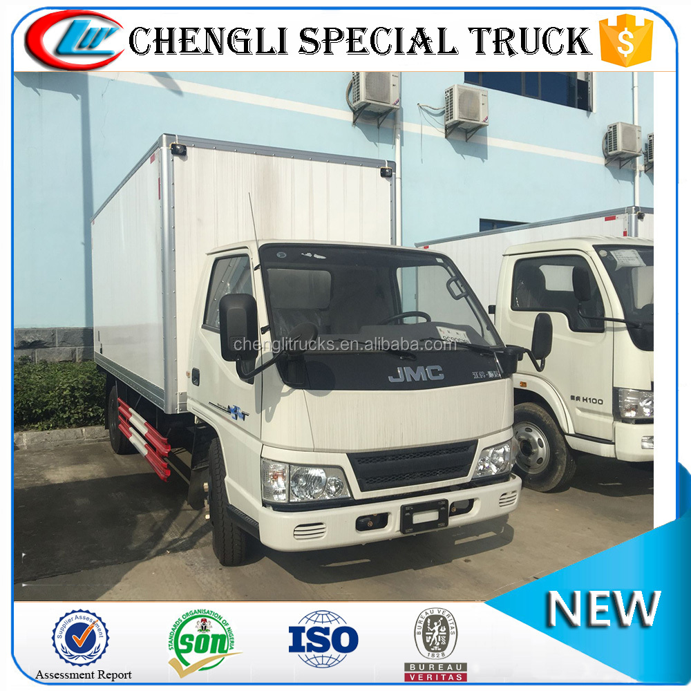 China Factory Left hand drive 4x2 3t 4t 5t JMC Cargo Van Truck Price Cheap for Sale