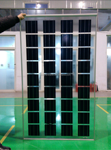 high quality good price transparent thin film solar panel for customized BIPV