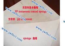 PP nonwoven coated with sponge