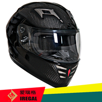 High-tech bluetooth motorcycle helmet with carbon fibre shell