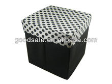 cheap ottomans polyester material collapsible storage ottoman