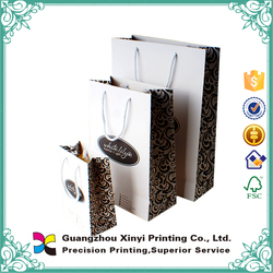 Animal print gift white kraft cheap paper shopping bag