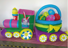 new products 2015 , cute inflatable train and easter egg decoration