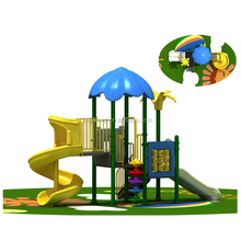 Provode installation preschool outdoor playground newest outdoor playgrounds plastic swing and slide set JMQ-G086E