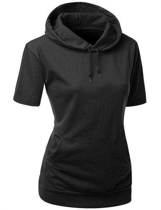 men's short sleeve hoodie