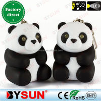 BS-082 Panda calf sound led key ring