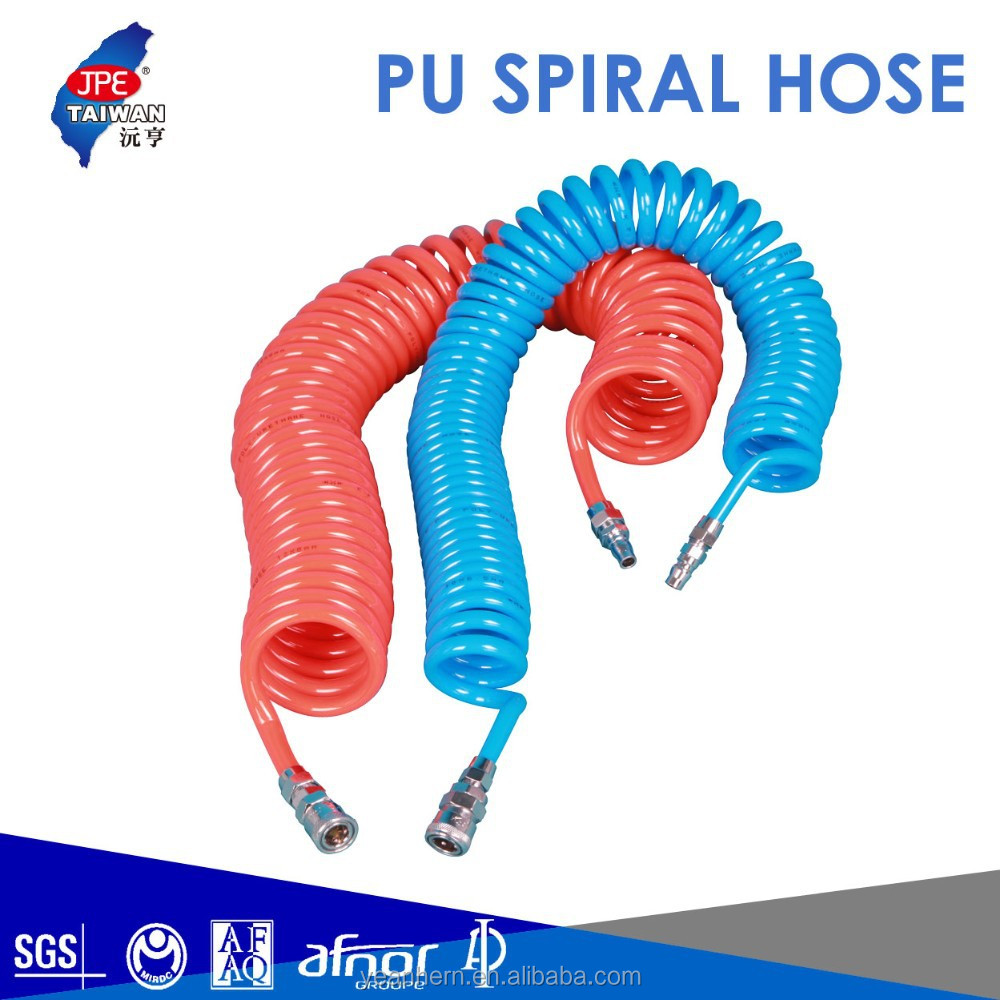 Flexible High-pressure Colored for Pneumatic Tools PU Spiral Air Hose