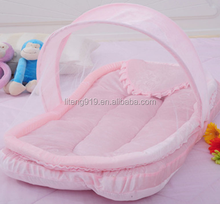 Baby Crib Netting for Newborns Portable Baby Cradle Bed with Pillow Infant Sleeping Bed Travel Folding Baby Bed Mosquito Net