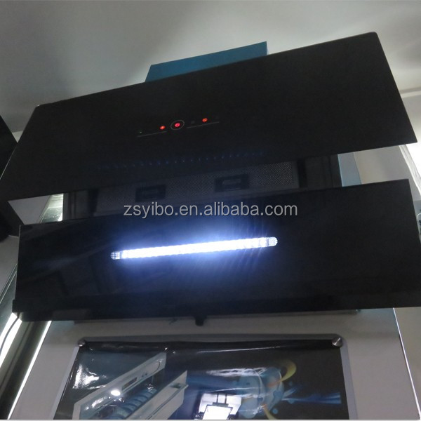 900mm width strong suction self venting low noise side range hood