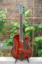 archtop yunzhi fully handmade solid wood archtop electric guitar