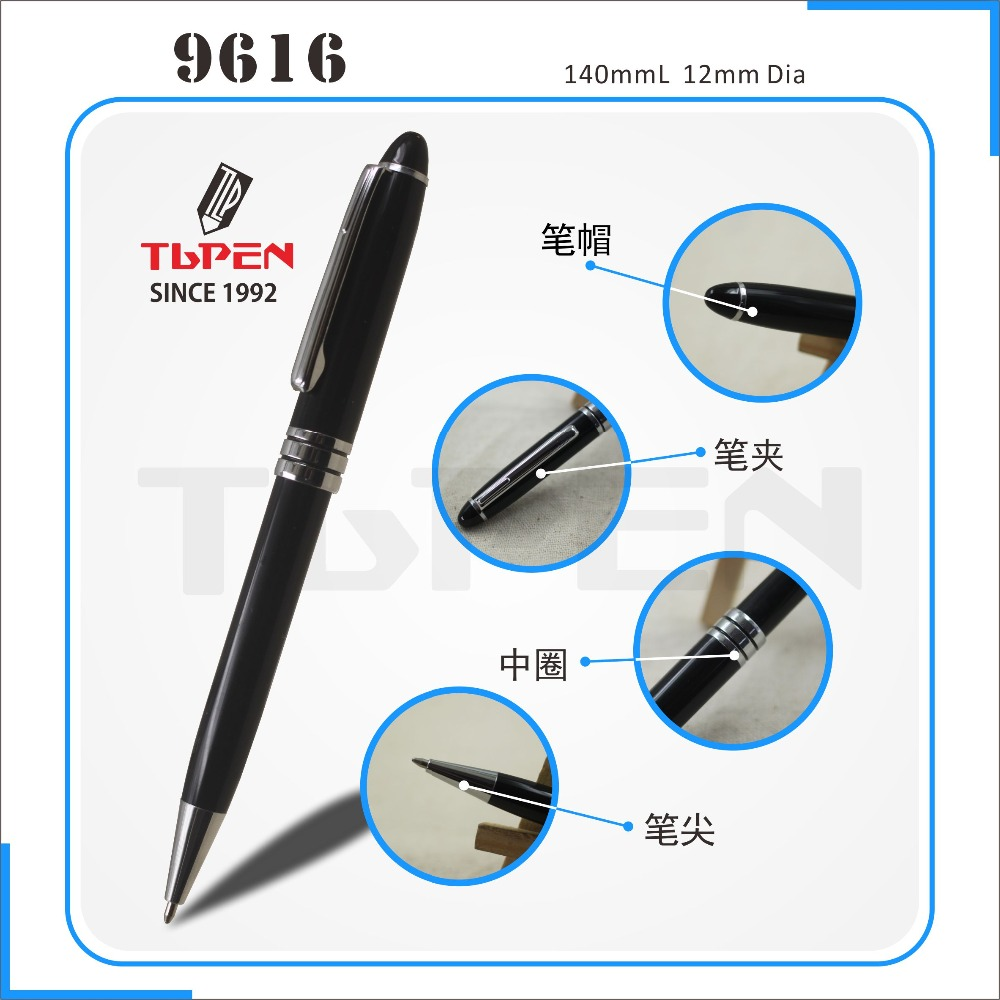 2017 Factory direct selling luxurious business metal ball pen,hotel promotion pen with metal cross refill and custom logo
