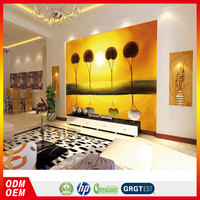 best price Desert golden landscape painting style wallpaper for Arabic hotel interior Decor
