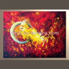 Handmade Abstract Canvas Artwork For Decor In Discount Price