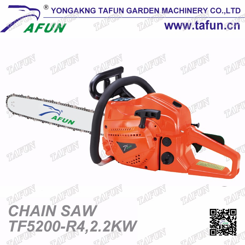 Single cylinder 52cc Petrol chain saw wood cutting machine 5200(TF5200-R4)