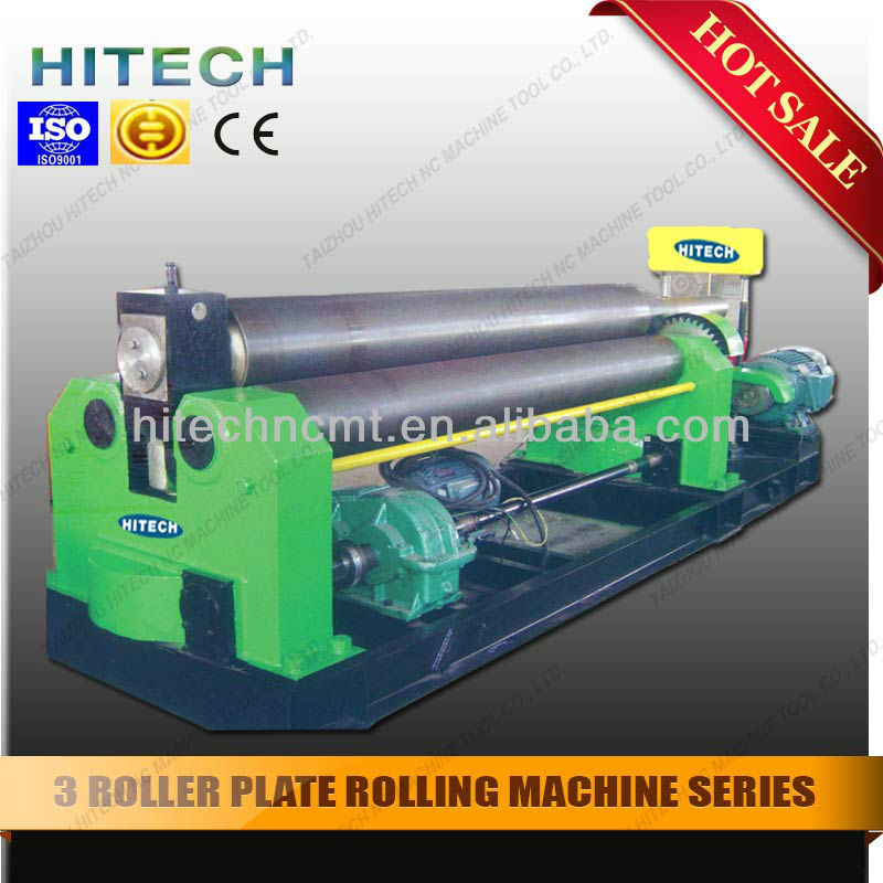 Three-roller Symmetrical Plate Rolling Machine or Plate Roller W11 tape rolling machine