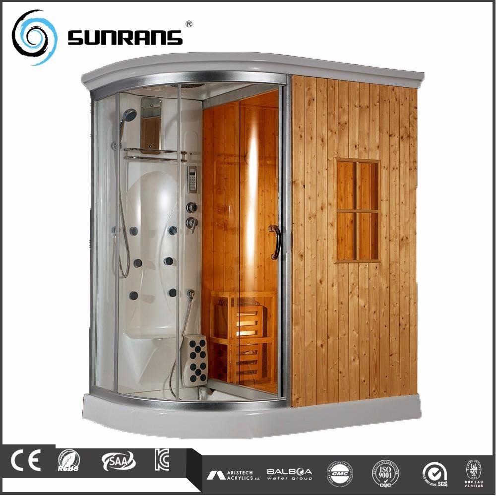 Steam shower bath sauna combo wooden steam cabin box buy - Cabina ducha sauna ...