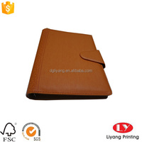 cheap A4 brown PU leather cover loose leaf journal diaries paper Notebooks