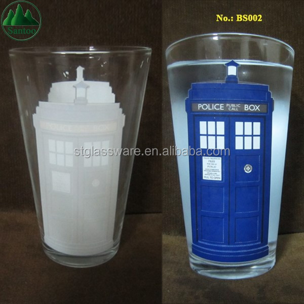 16OZ Magical Glass with Colour Changing Logo