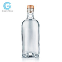 700ML empty clear glass wine bottle for whisky wholesale