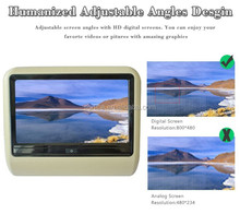 Best price touch screen 9 inch clip on headrest dvd monitor