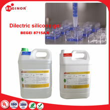 Silicone dielectric gel for enclosures waterproofing