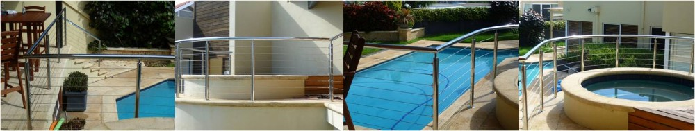wholesale price 304 stainless steel balcony tension wire railing for handrail or cable wire fence