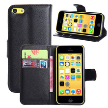 Fashion Flip Wallet Leather Case For iphone 5C Magnetic Phone Case Holder Stand