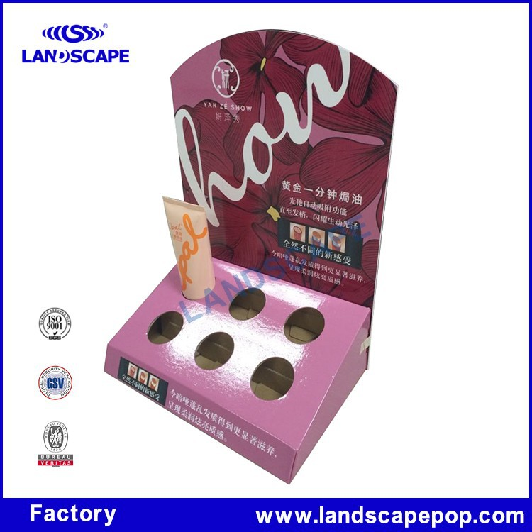 Custom made PDQ paper display case for holding hand cream / cardboard countertop hand cream display