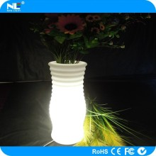 Beautiful appearance rechargeable led plastic light helical flower bouquet holder