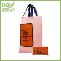 Folding bag purse pattern non woven PP bag with handles and zipper