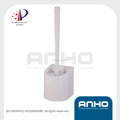 ANHO Patent plastic white Toilet Brush Holer, Wall Mounted Toilet Brush with Holder