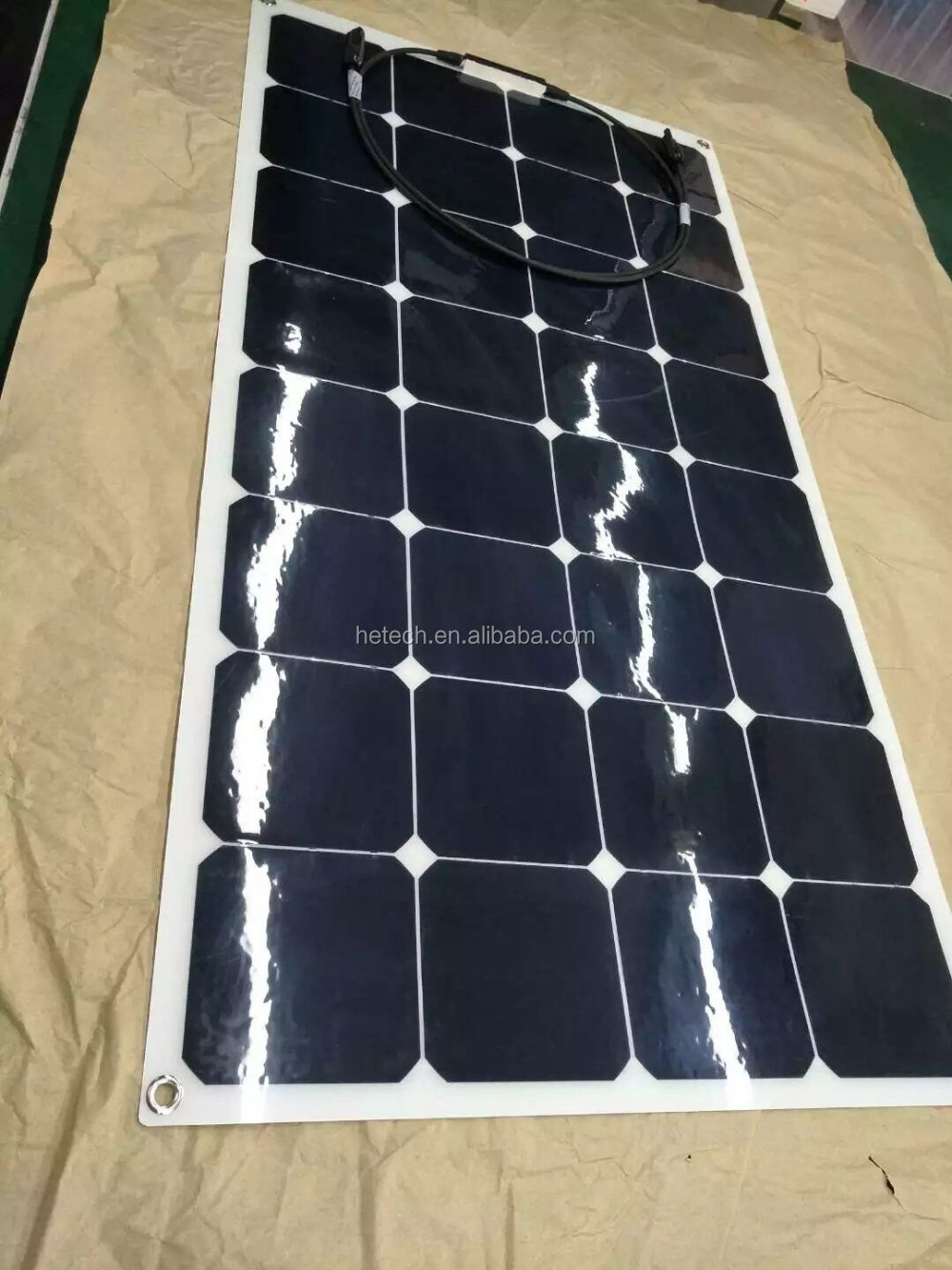 Best pv supplier 100w amorphous silicon thin film flexible pv solar panel
