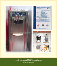 50L Large Capacity 3 Flavors Floor Stand Soft Ice Cream Machine with two system For Sale RB3138B