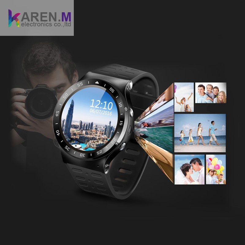 S99 Bluetooth Android 5.1 OS 3G Smart Watch Cell Phone MTK6580 Smartwatch with 5.0 MP Camera GPS Pedometer Heart Monitor