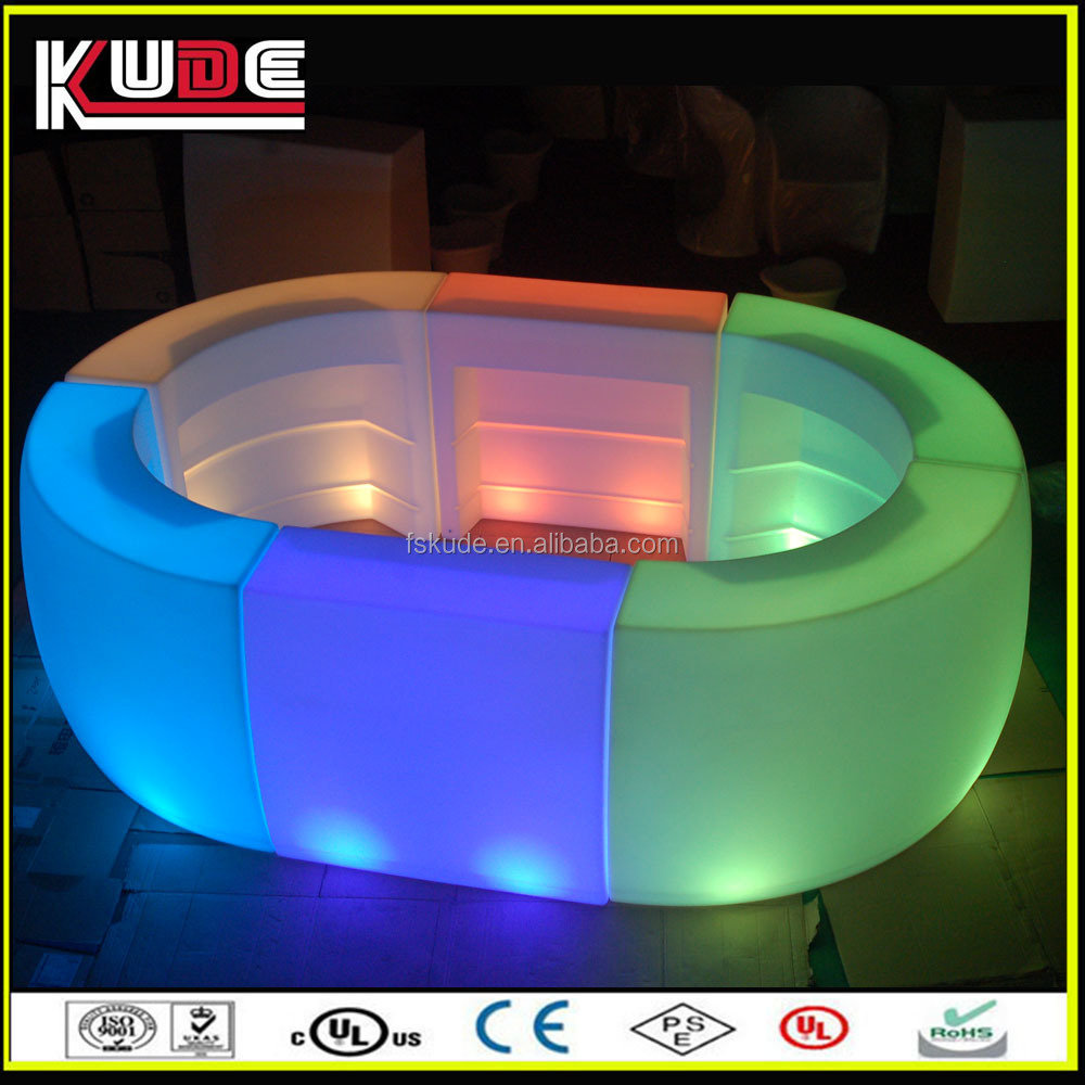 multi colors plastic outdoor funiture lighting round bar