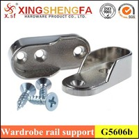 Oval Wardrobe Hanging Rail Centre Tubes Brackets Support Fittings