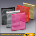 Frosty and clear pvc zipper mesh bag travel waterproof clear pvc mesh zipper storage make up bag
