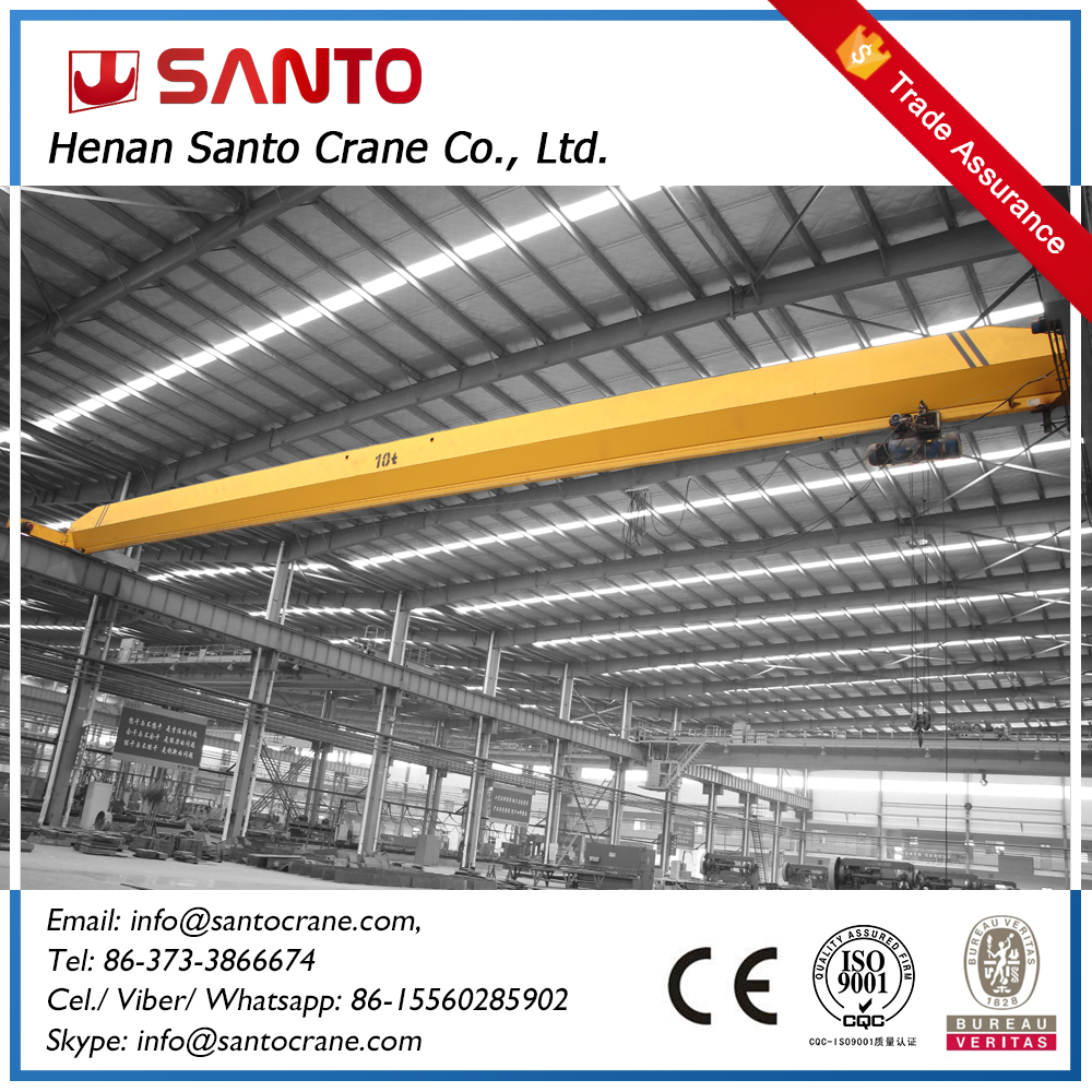 Top Performance eot mobile LD model ce certified single beam overhead crane